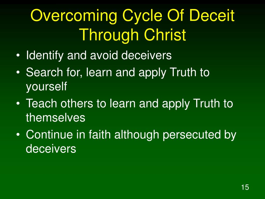 Overcoming Cycle Of Deceit Through Christ