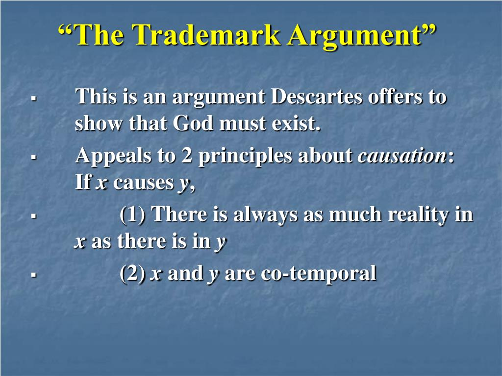"""The Trademark Argument"""