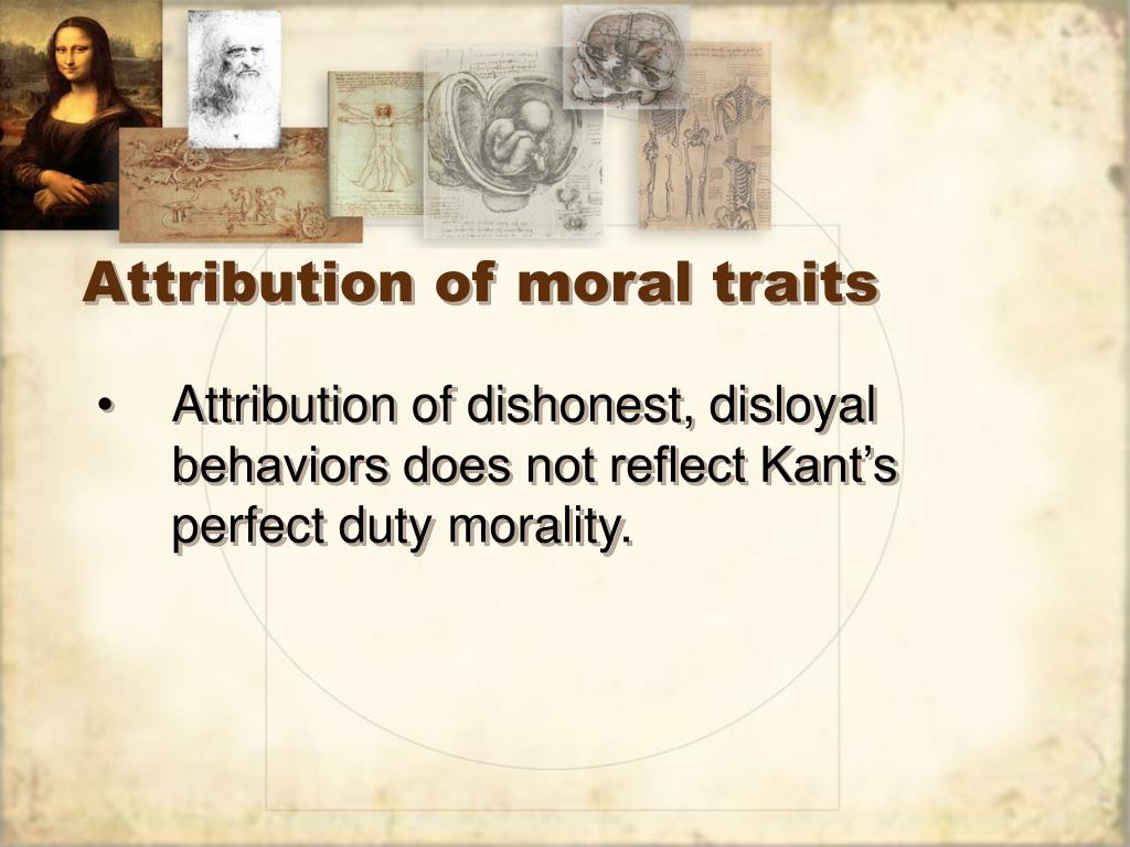 Attribution of moral traits