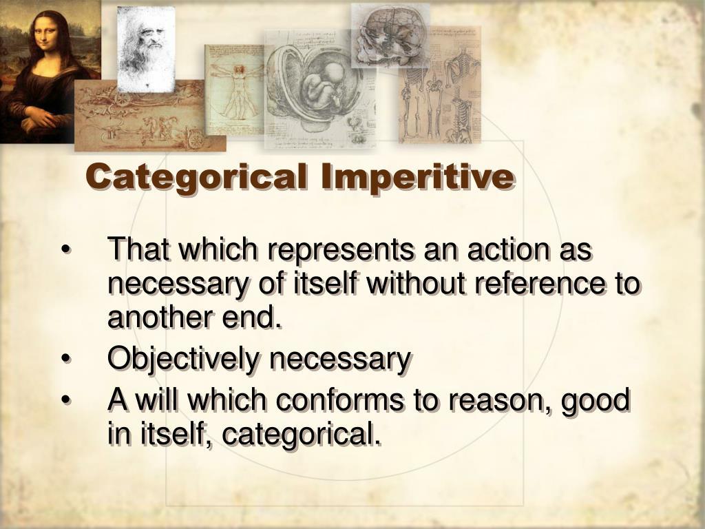 Categorical Imperitive