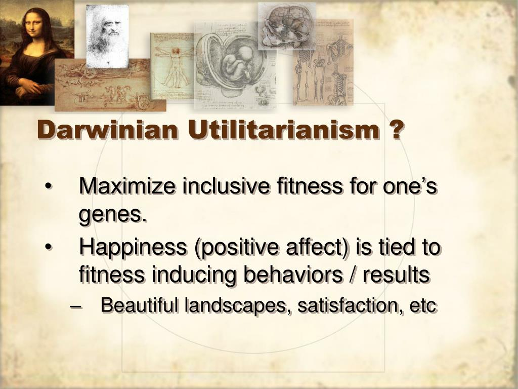 Darwinian Utilitarianism ?