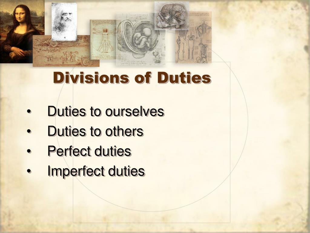Divisions of Duties