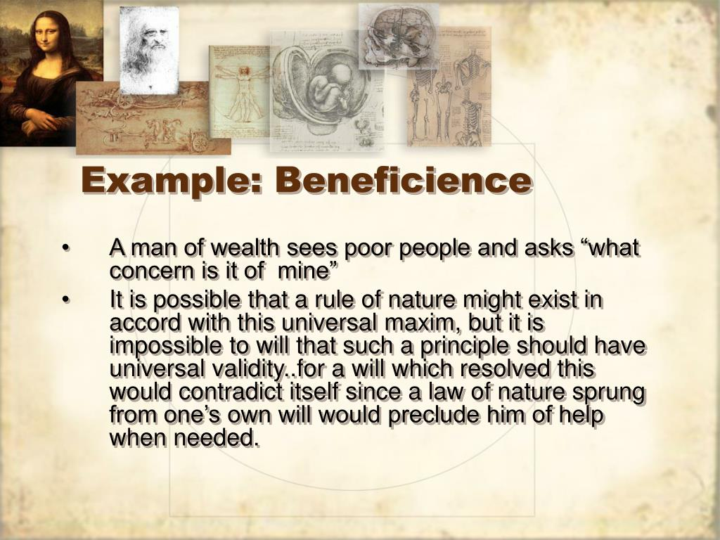 Example: Beneficience