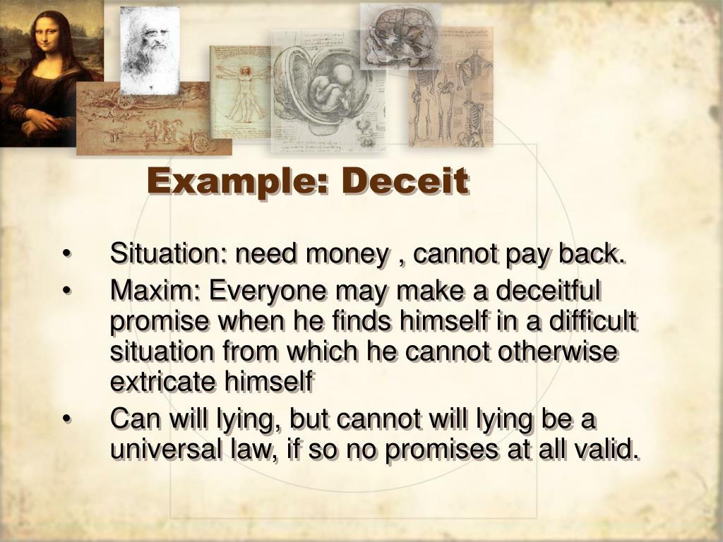 Example: Deceit