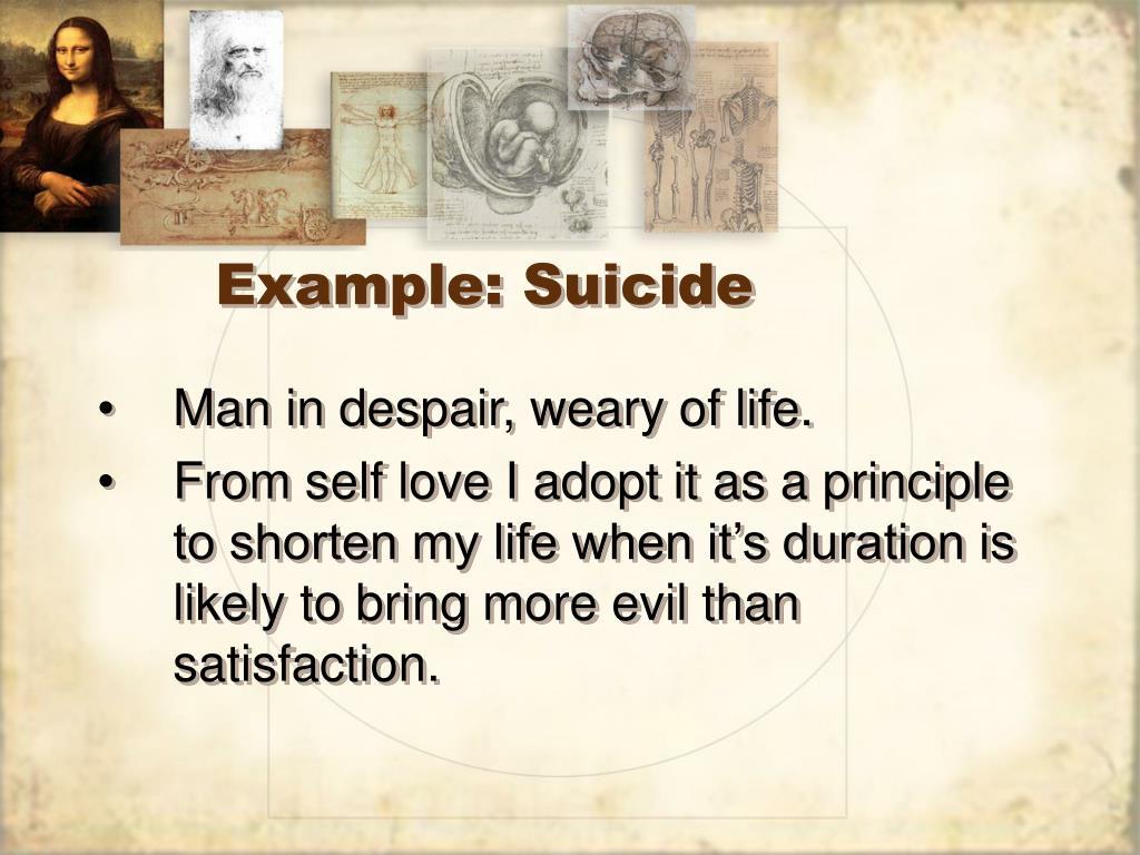 Example: Suicide