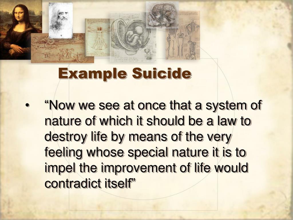 Example Suicide