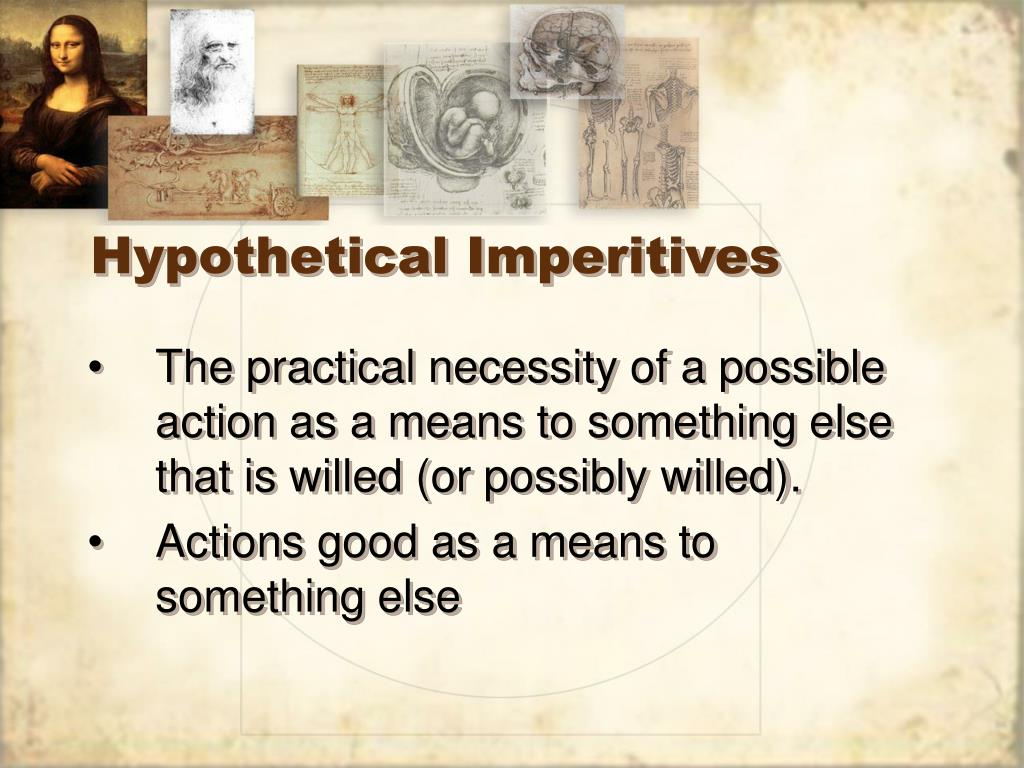Hypothetical Imperitives