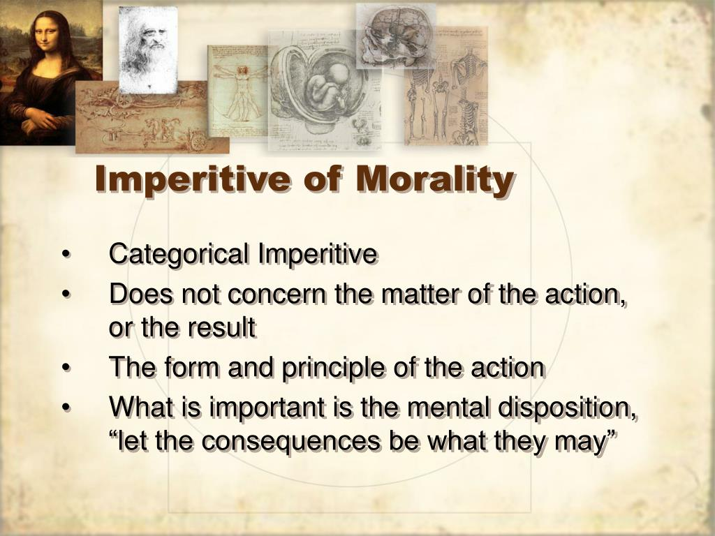 Imperitive of Morality