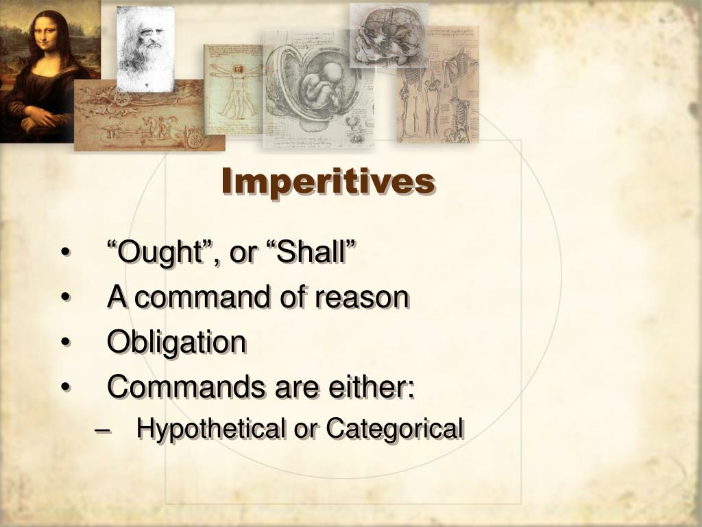 Imperitives