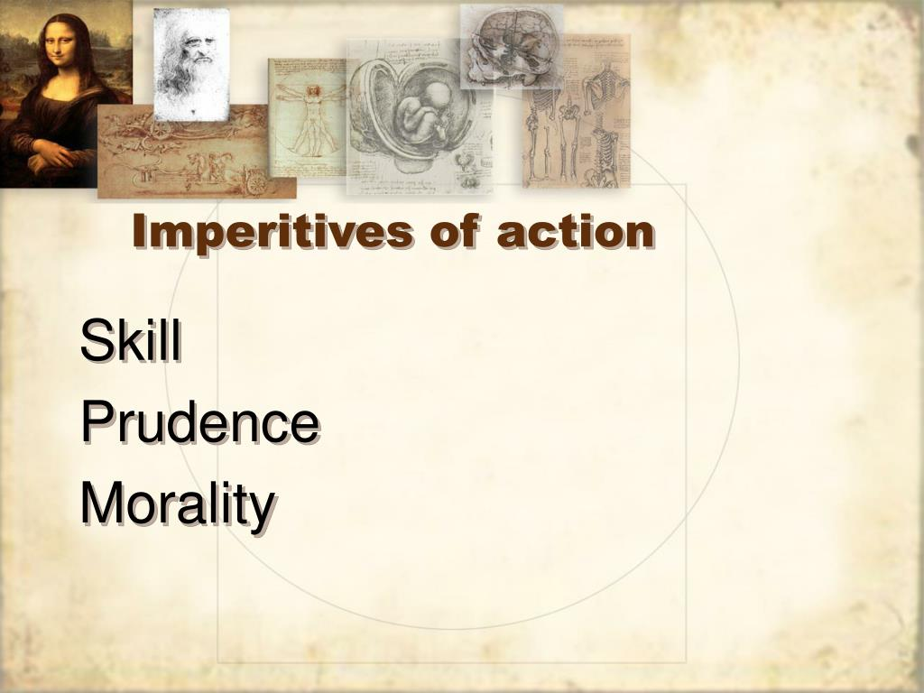 Imperitives of action