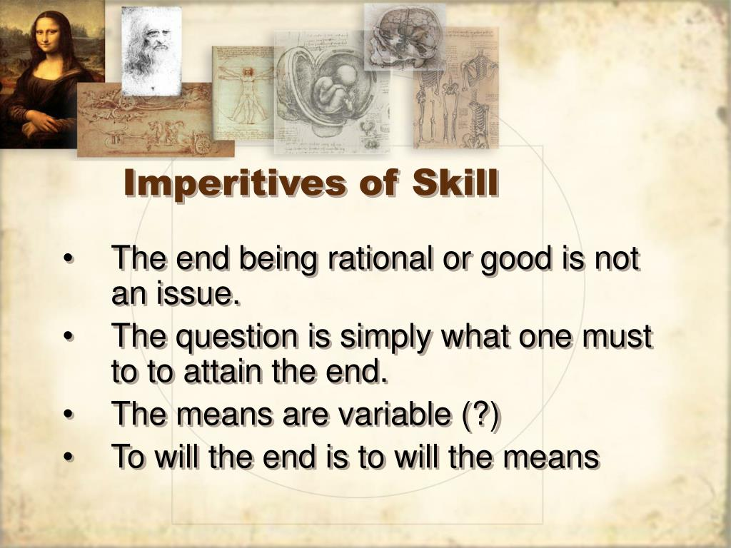 Imperitives of Skill