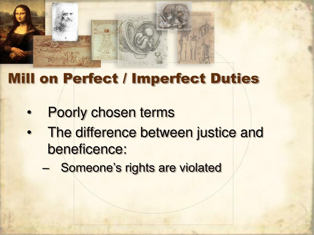 Mill on Perfect / Imperfect Duties