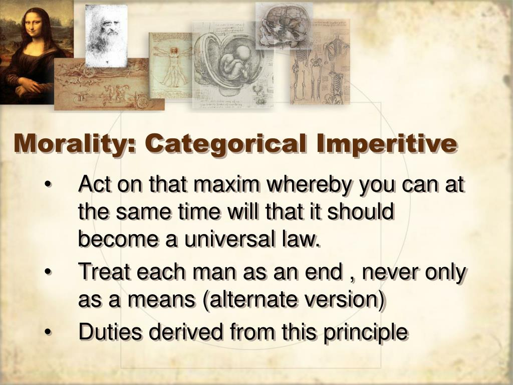 Morality: Categorical Imperitive
