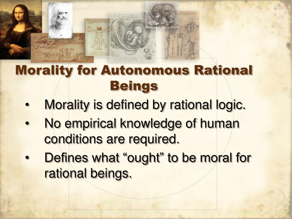 Morality for Autonomous Rational Beings