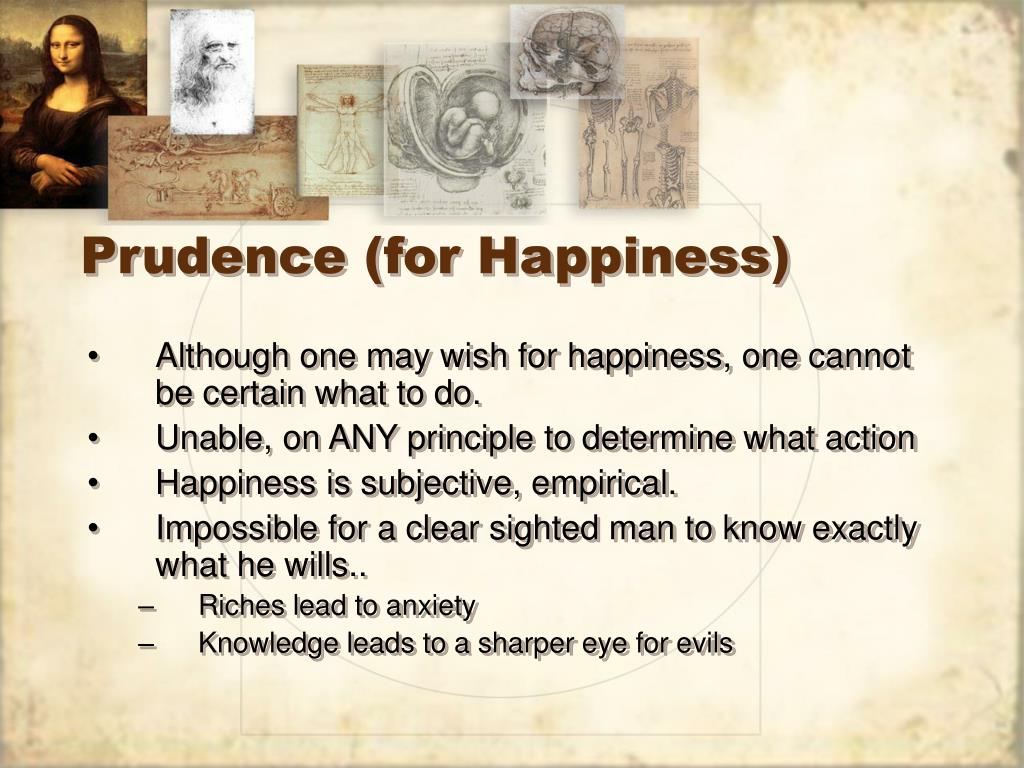 Prudence (for Happiness)