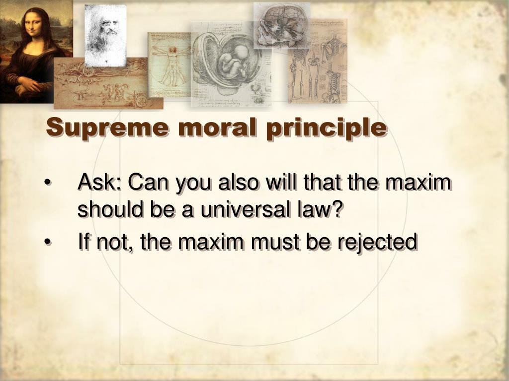 Supreme moral principle