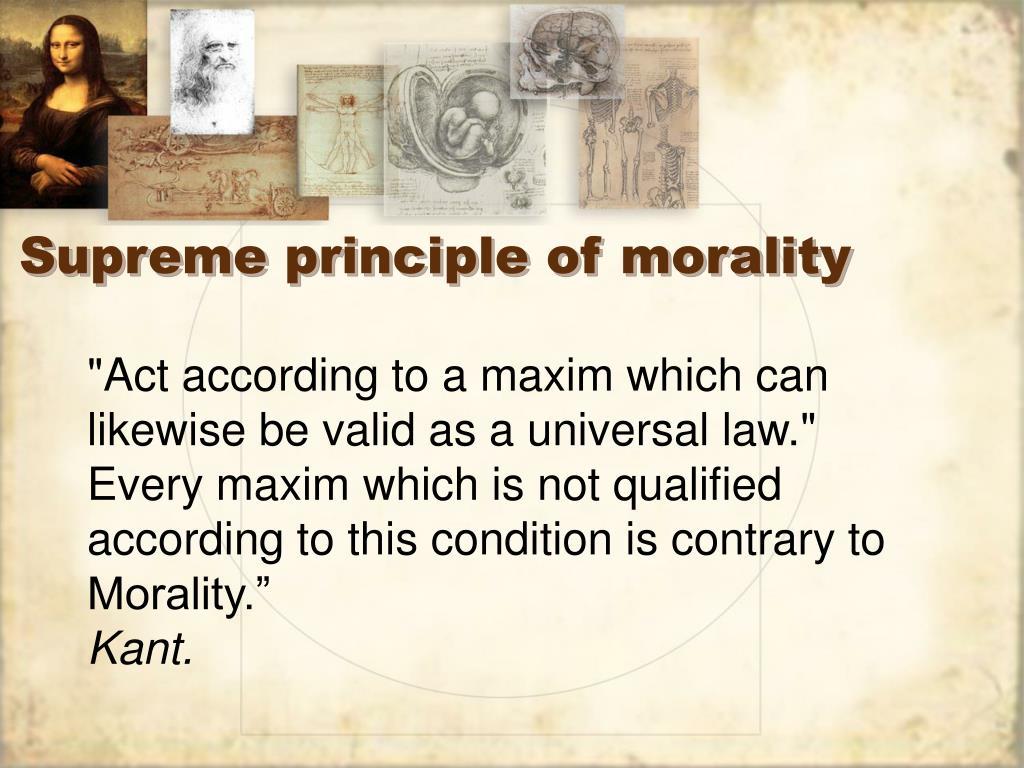 Supreme principle of morality