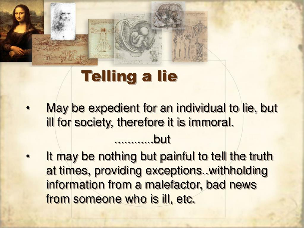 Telling a lie