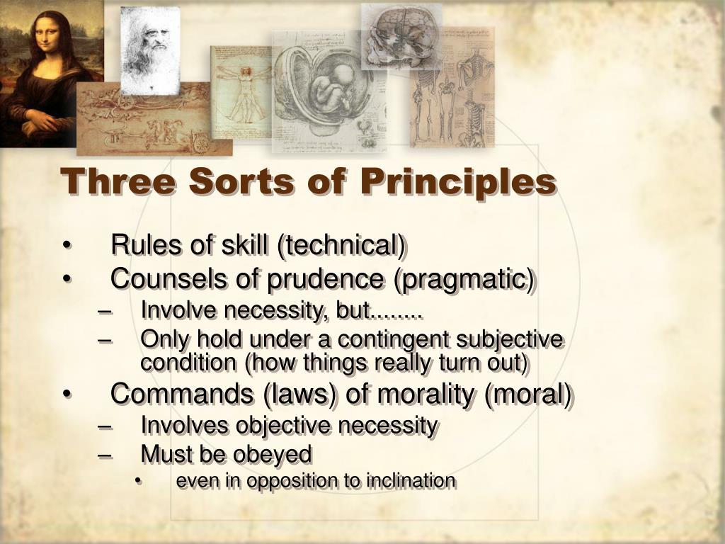 Three Sorts of Principles