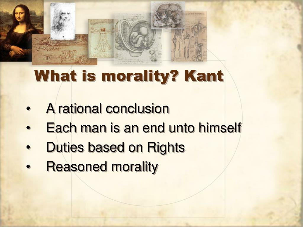 What is morality? Kant