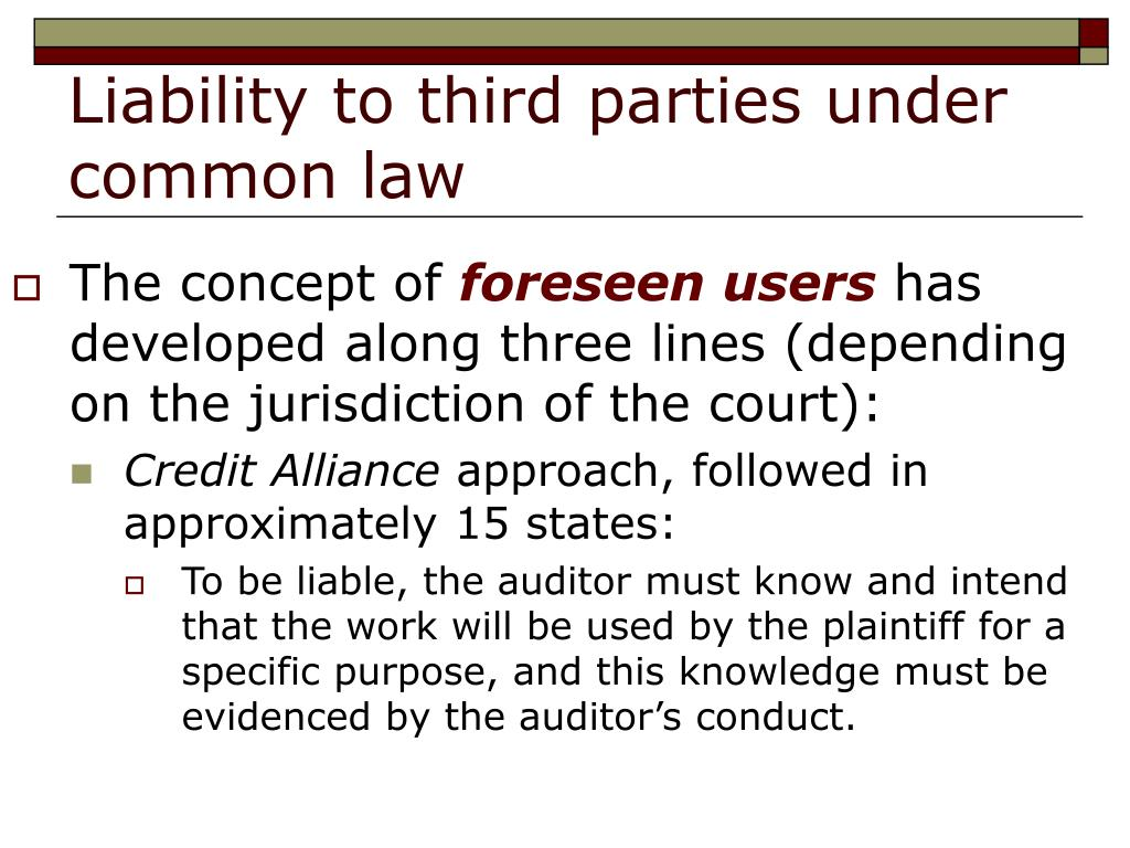 Liability to third parties under common law