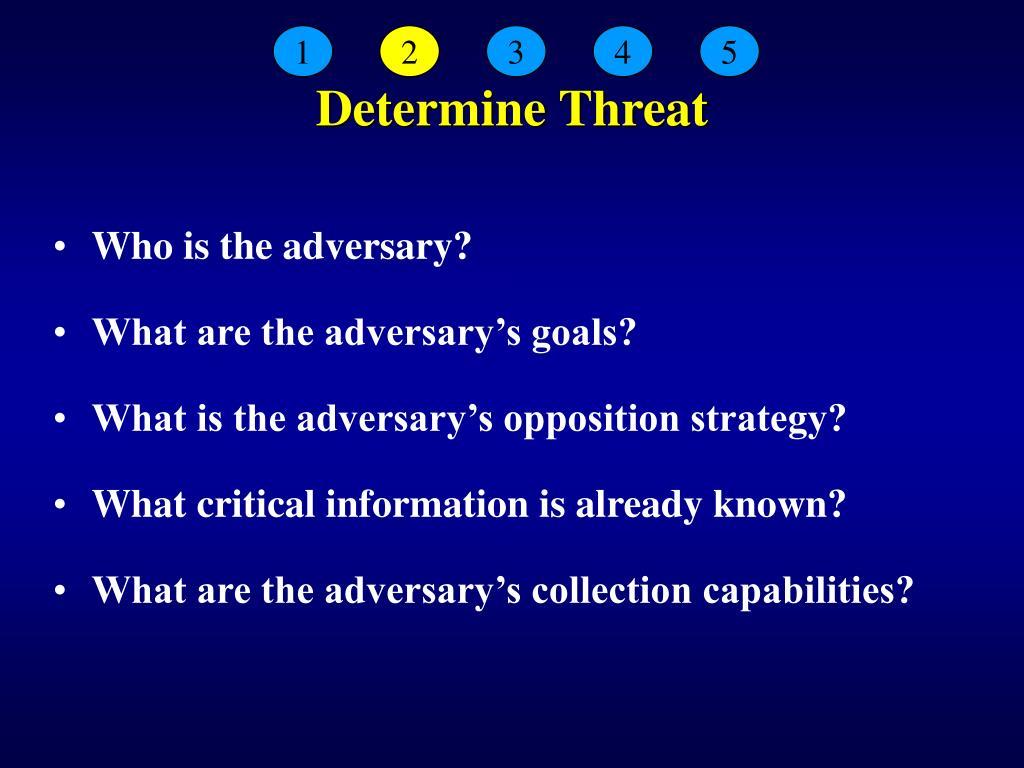 Determine Threat