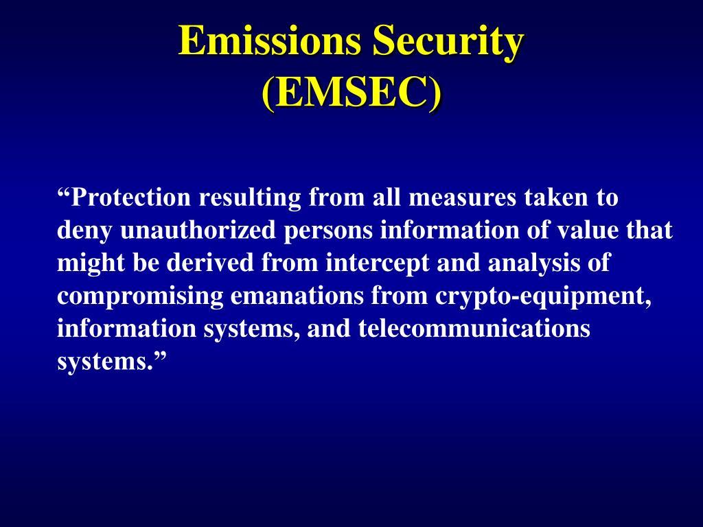 Emissions Security (EMSEC)