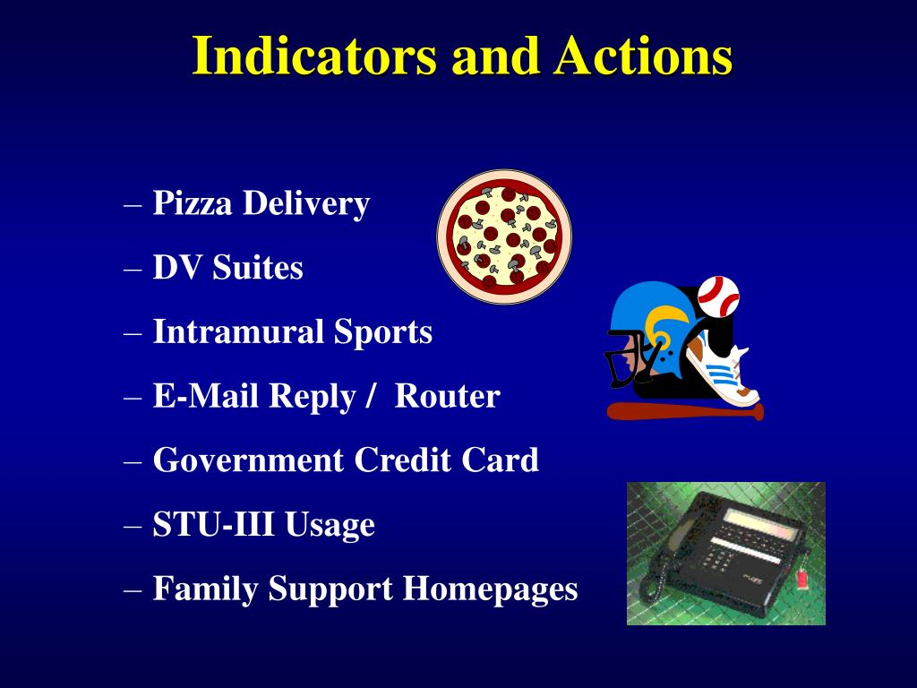 Indicators and Actions