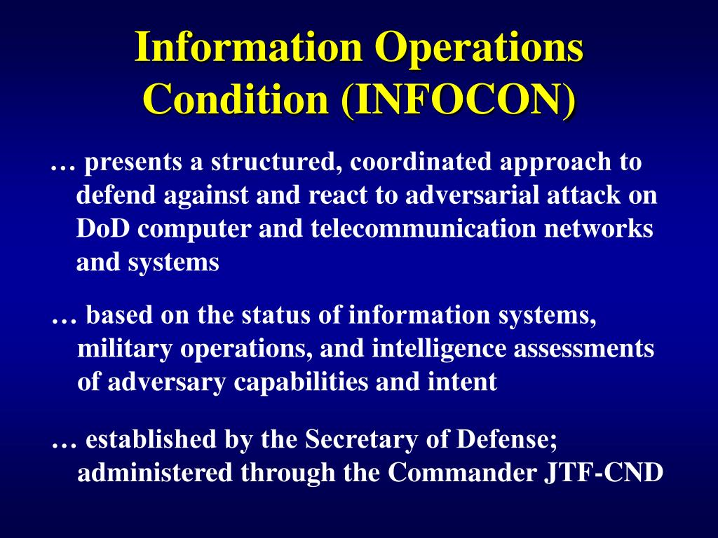 Information Operations Condition (INFOCON)
