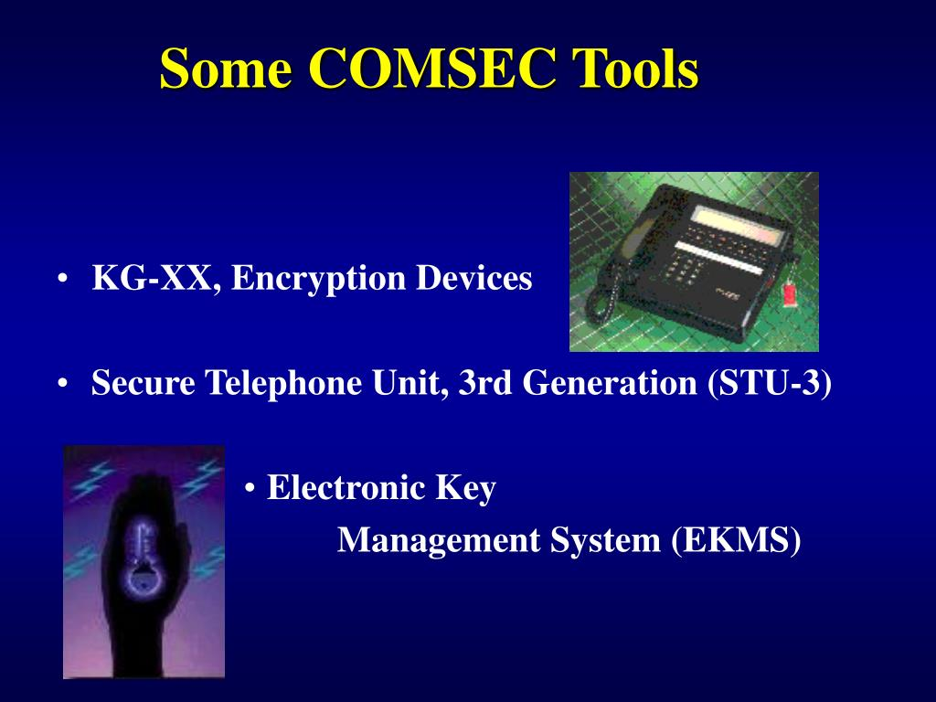 Some COMSEC Tools