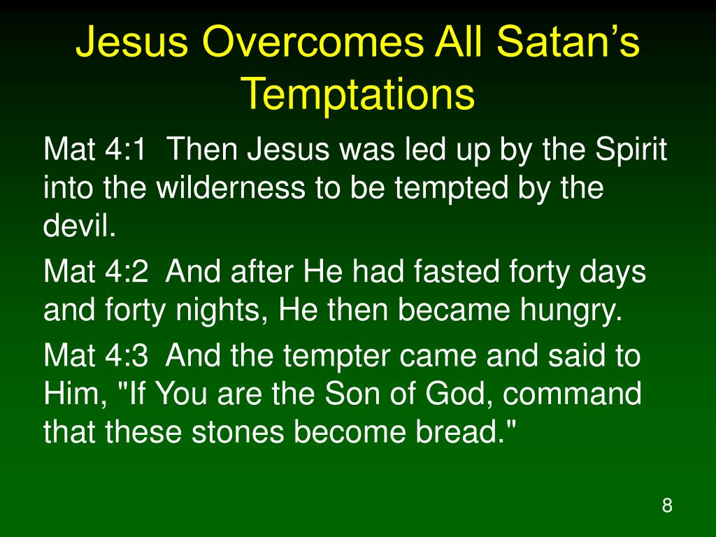Jesus Overcomes All Satan's Temptations