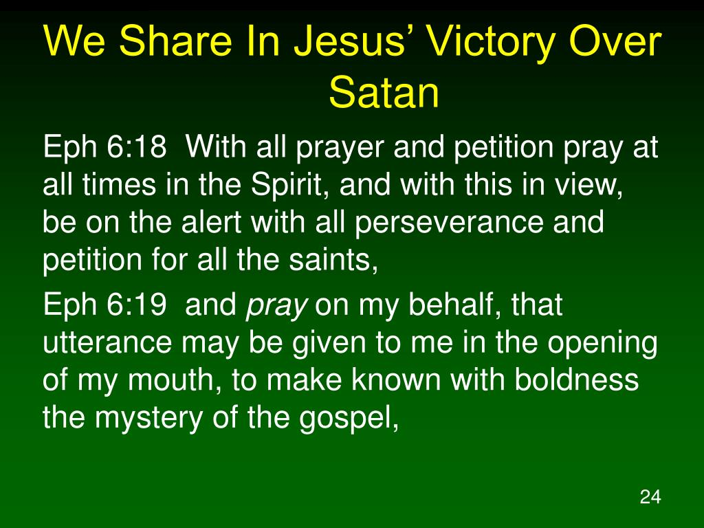 We Share In Jesus' Victory Over Satan