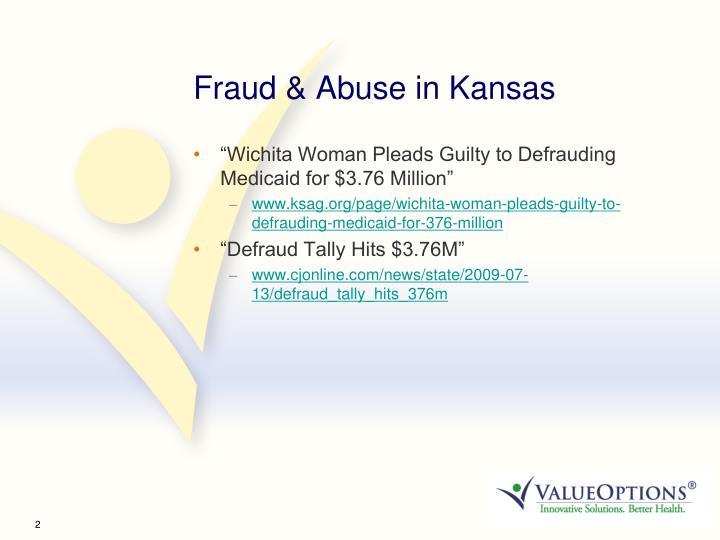 Fraud & Abuse in Kansas