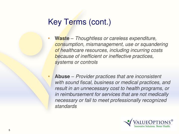 Key Terms (cont.)