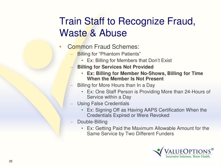 Train Staff to Recognize Fraud, Waste & Abuse