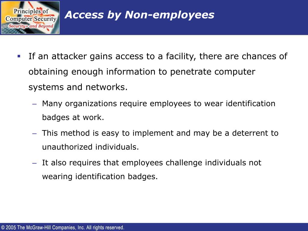 Access by Non-employees