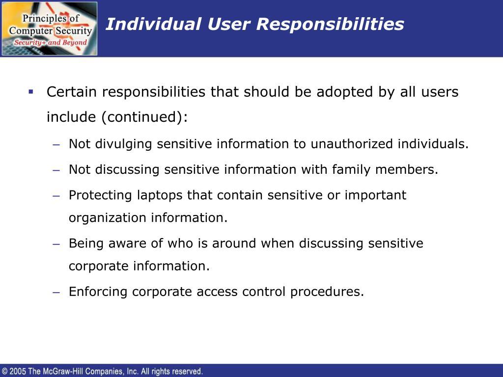 Individual User Responsibilities