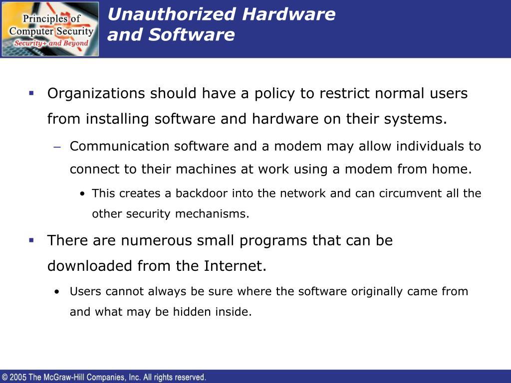 Unauthorized Hardware