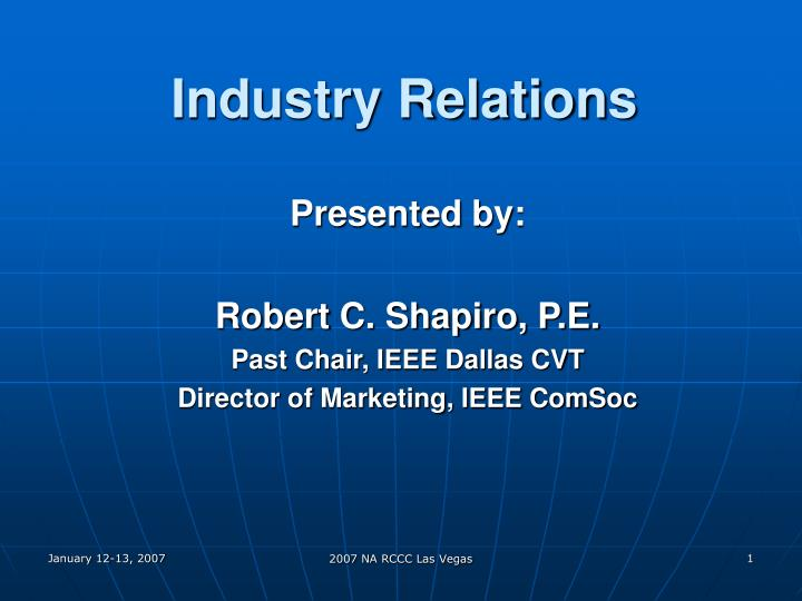 Industry relations