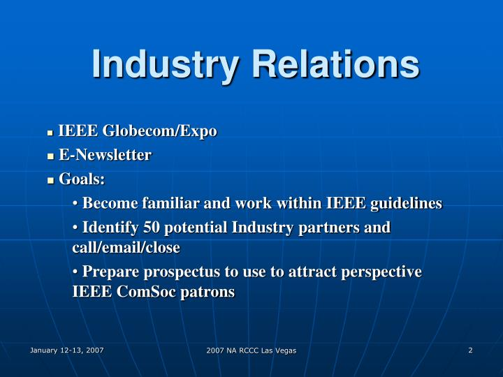 Industry relations2