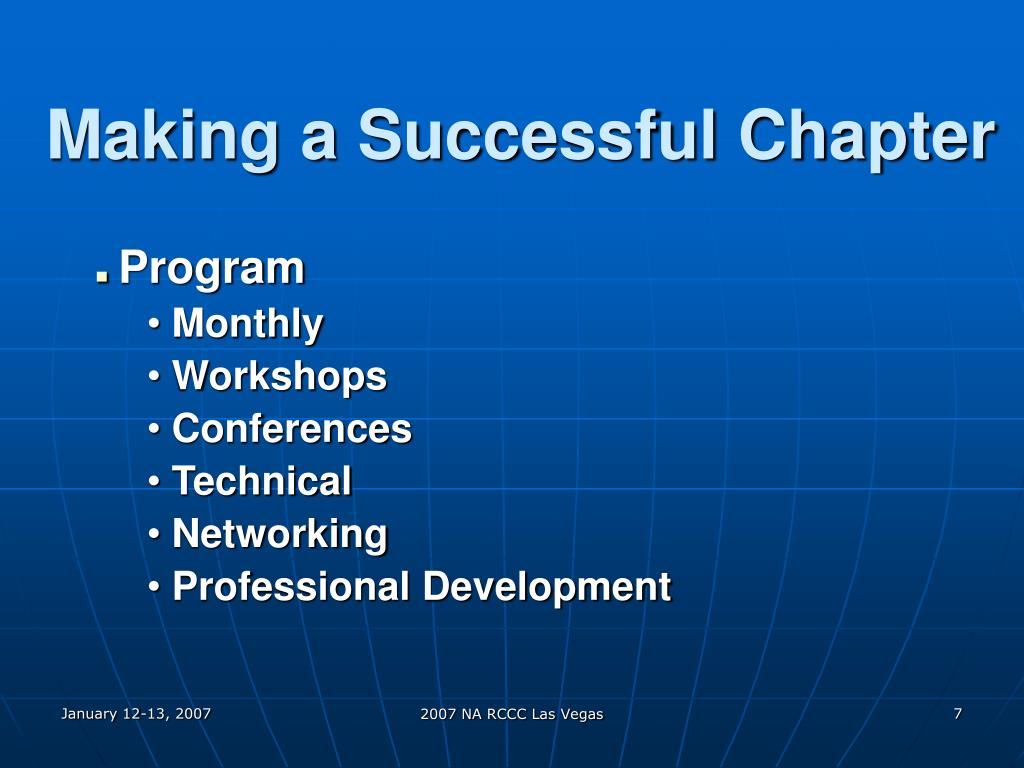 Making a Successful Chapter