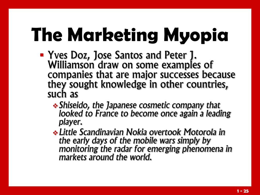The Marketing Myopia