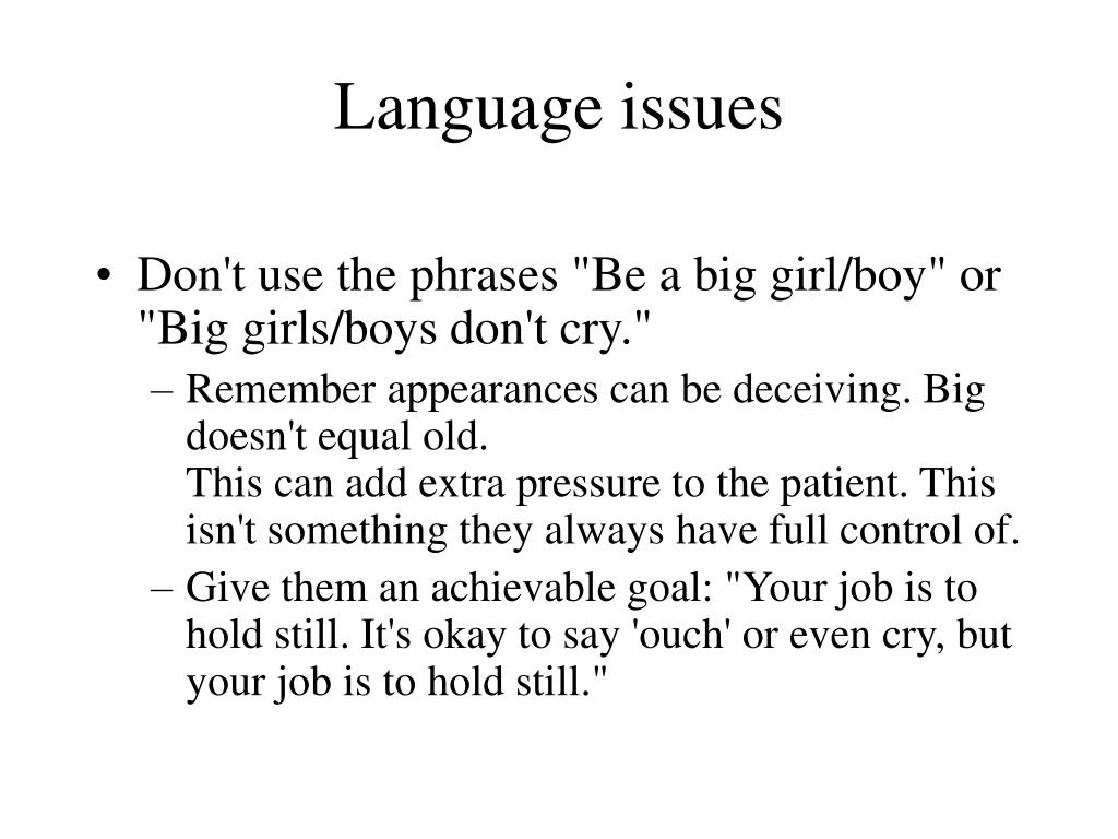 Language issues
