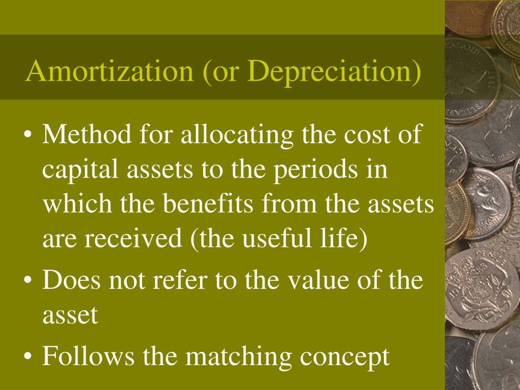 Amortization (or Depreciation)