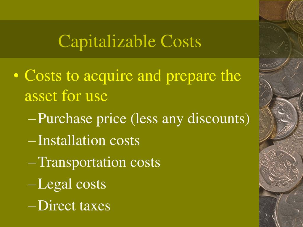 Capitalizable Costs