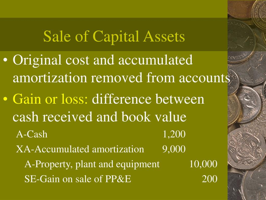 Sale of Capital Assets