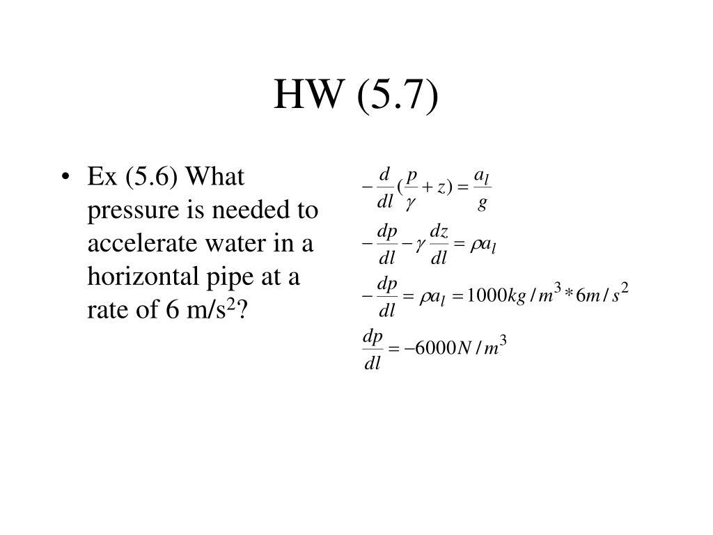HW (5.7)