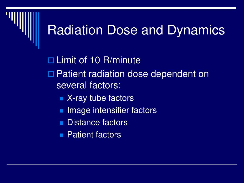 Radiation Dose and Dynamics