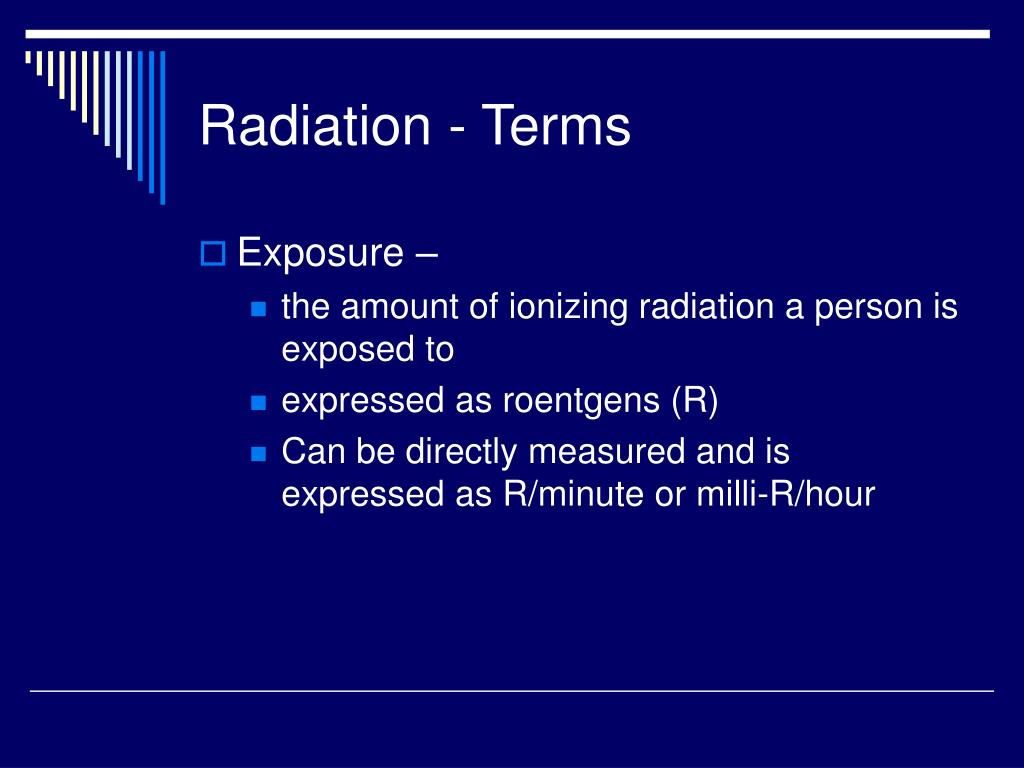 Radiation - Terms