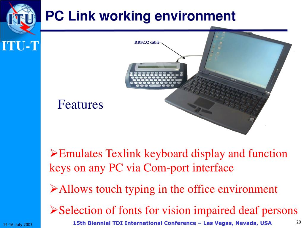 PC Link working environment